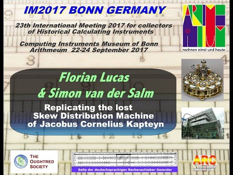 IM2017 Videos: 11. Replicating  Machine of Jacobus Cornelius
