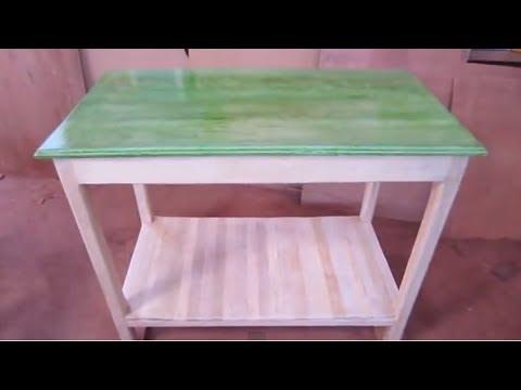 Como hacer una madera blanca cambiar de tonos a la for Laca al agua para muebles