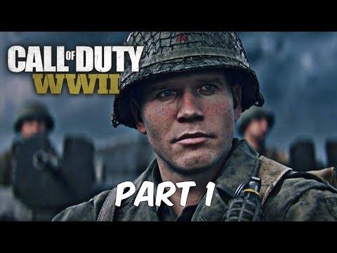 CALL OF DUTY WW2 | Gameplay Walkthrogh Mission 1 | D-DAY | Normandy | COD World War 2 |
