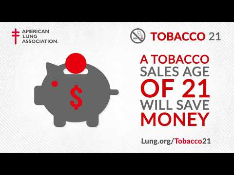 Tobacco 21: Reduce Youth Tobacco Use & Save Lives