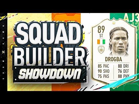 Fifa 20 Squad Builder Showdown!!! NEW ICON DIDIER DROGBA!!! 89 Rated Drogba vs Zweback