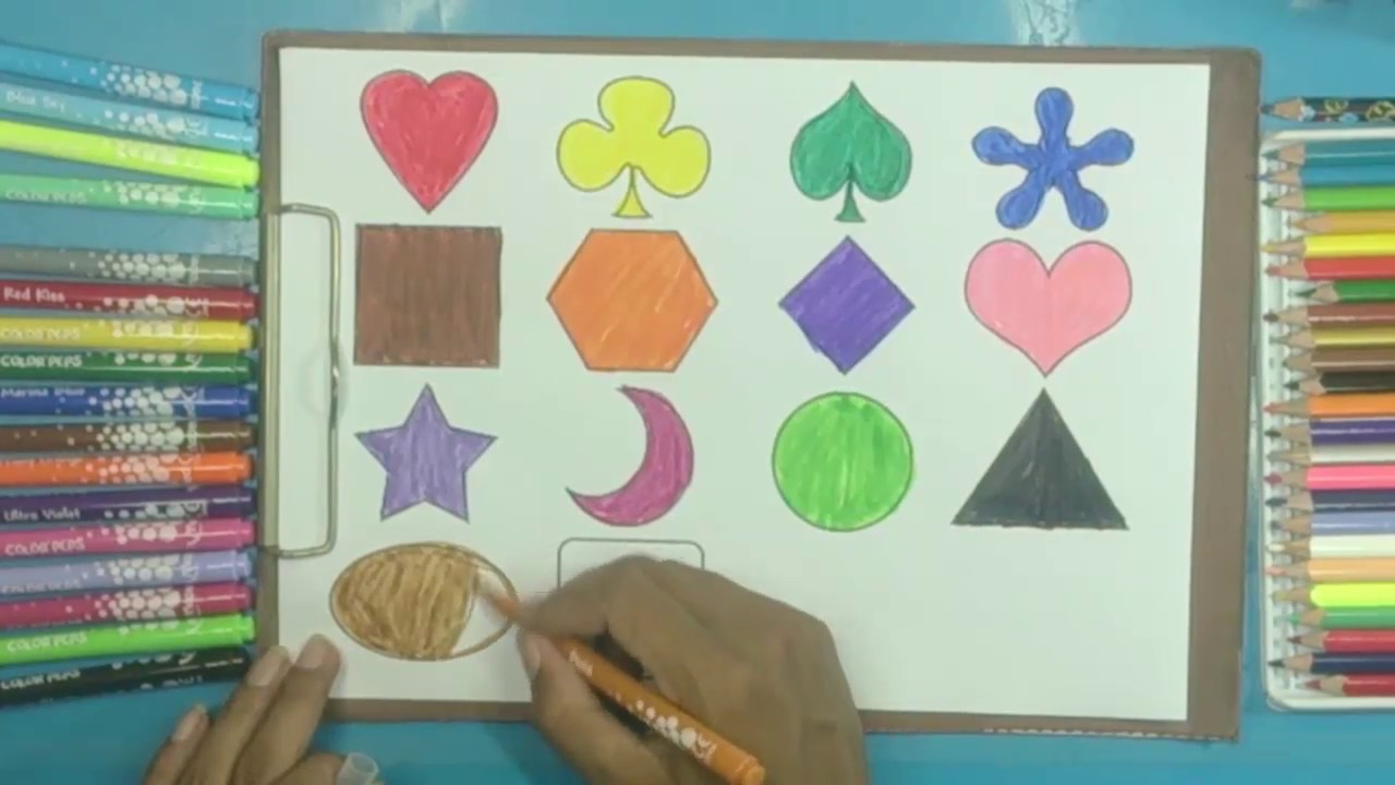 color and shapes - Learn color videos for kids,Children,Toddlers ...