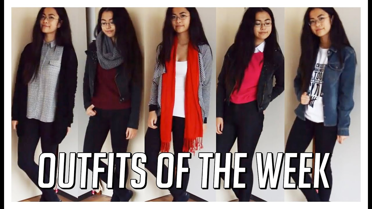 Fall OOTW u2661 November 2014 // Outfits Of The Week // A Week In My Style - YouTube