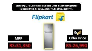 Samsung 275 L Frost Free Double Door 3 Star(Elegant Inox, RT30K3723S8/NL,RT30K3723S8/HL)