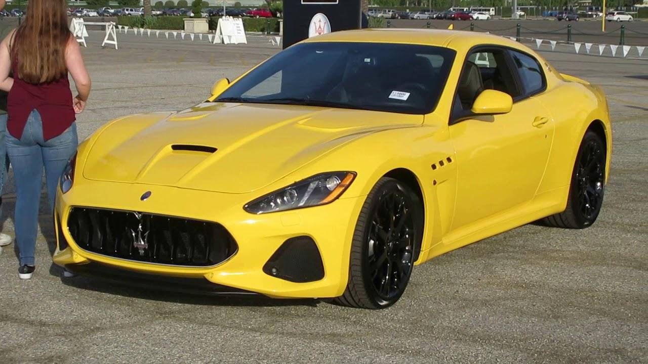 Yellow 2018 Maserati GranTurismo MC - YouTube