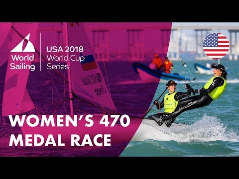 Full Women's Medal Race  Sailing's World Cup Series  Miami, USA 2018
