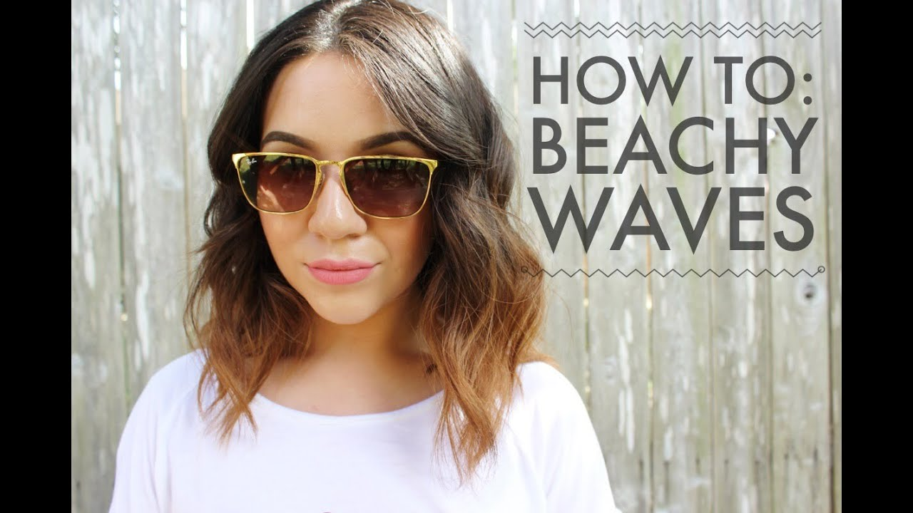 How to: Beachy Waves for Short to Medium Length Hair - YouTube