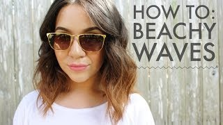 how to beachy waves for short to medium length hair