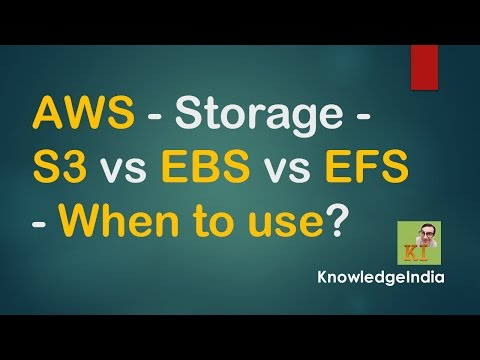 AWS Storage - S3 vs EBS vs EFS - When to use?