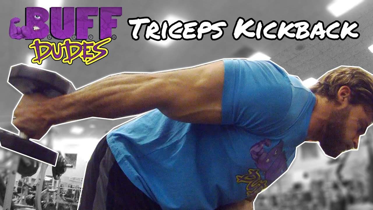 How to perform dumbbell triceps kickback exercise youtube for Buff dudes t shirt