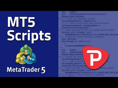 How to use Scripts in MetaTrader 5 - YouTube