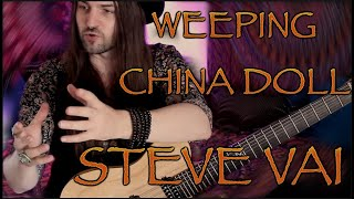 Steve Vai - 'Weeping China Doll' lesson. Riff of The Week