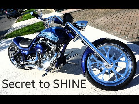 How to clean custom bike or Harley Davidson Pav`s way.