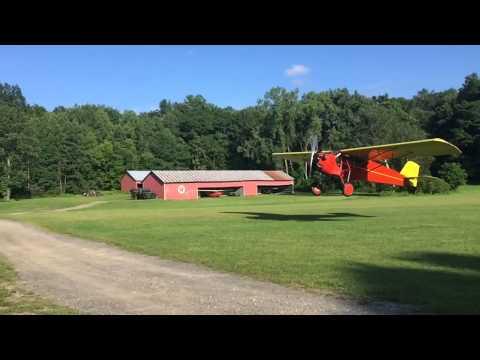 Curtiss Robin N534N takeoff from ORA
