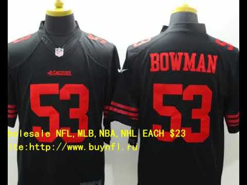 e3edd8588 San Francisco 49ers 53 Bowman Cheap NFL Jerseys China From buynfl.ru Only   23 Wholesale Price