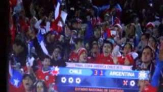 La Finale De La Coupe D'amérique Football  2015  Chili 4 Argentine 1