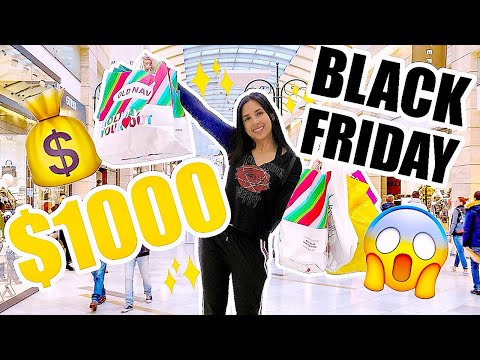 I WASTED $1000 ON BLACK FRIDAY - BLACK FRIDAY SHOPPING SPREE! 💲  Mar