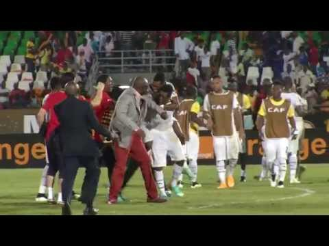 Ghana celebration after the final whistle - Orange Africa Cup of Nations, EQUATORIAL GUINEA 2015