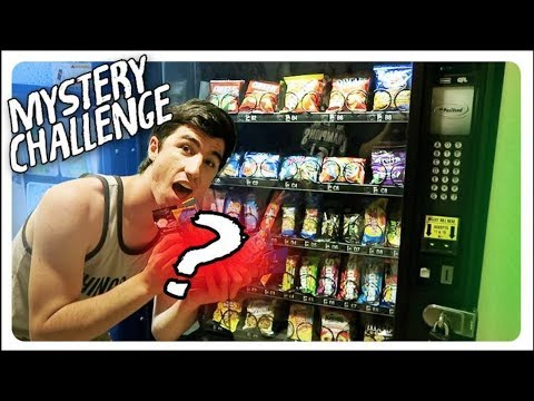 INSANE MYSTERY VENDING MACHINE CHALLENGE!! BLINDED!!
