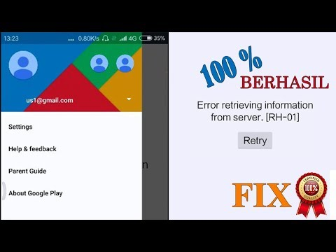 Cara Memperpaiki Playstore Error Retrieving Information From Server RH-01