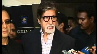 AMITABH BACHCHAN & SHARMAN JOSHI AT SCREENING OF EKLAVYA AND 3 IDIOTS