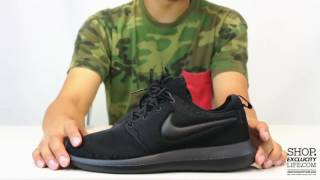 """Nike Roshe Two """"Triple Black"""" Unboxing Video at Exclucity"""