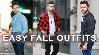 3 Easy Fall Outfits For Men 2016| Men's Fall Lookbook | Men's Fashion & Style | Alex Costa