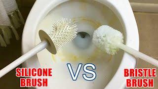 NORWEX Ergonomic bathroom Toilet Bowl Brush with  Holder Cleaner NEW silicone