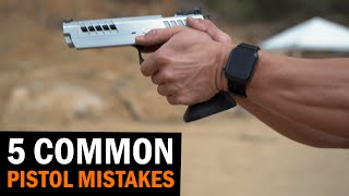 5 Common Pistol Shooting Mistakes We See At Classes