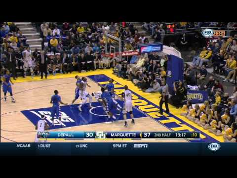 NCAA basketball - DePaul Blue Demons vs Marquette Golden Eagles (07.03.2015)