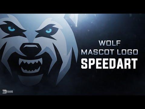 Wolf Mascot Logo   Sports Logo Speedart