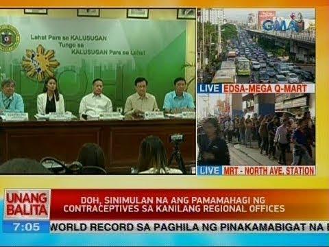 UB: DOH, sinimulan na ang pamamahagi ng contraceptives sa kanilang regional offices