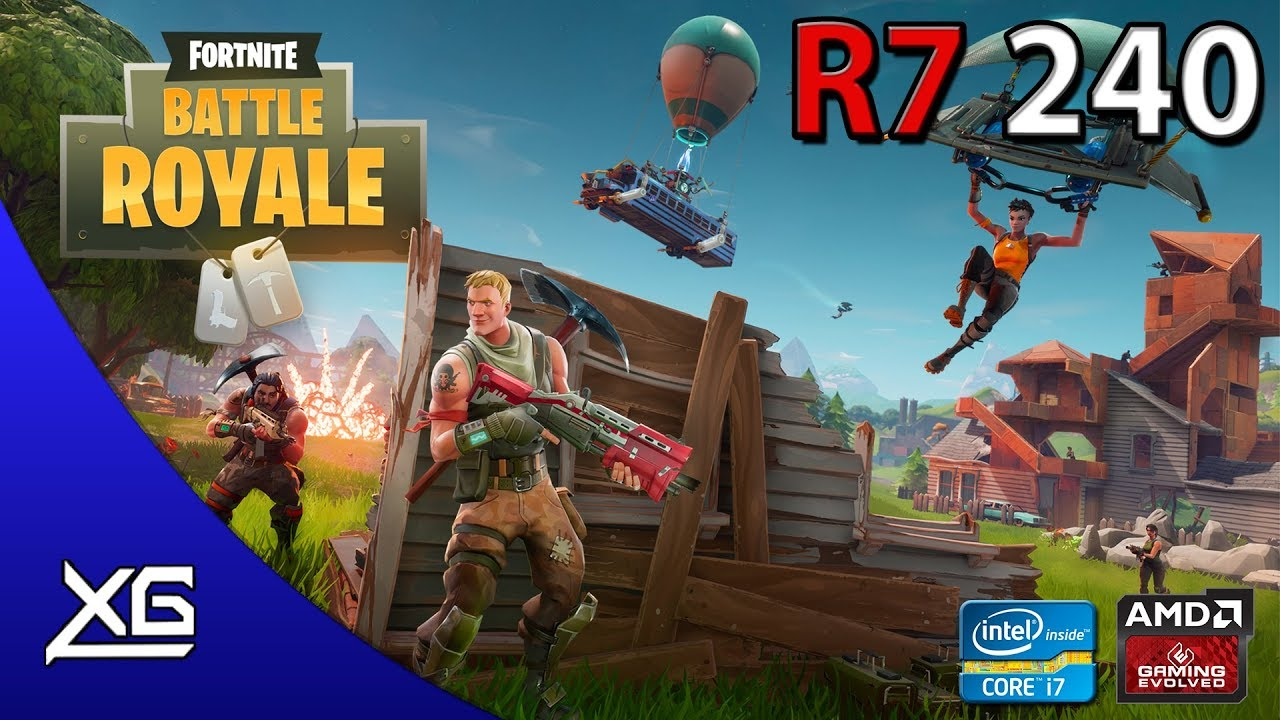Fortnite Battle Royale Graphics | R7 240 2GB DDR3 | 720p | MED | FPS - TEST