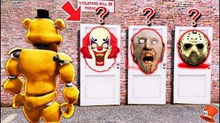 WHICH HORROR DOOR WILL BUFF FREDDY CHOOSE? (GTA 5 Mods FNAF RedHatter)
