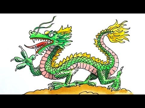 How to Draw a Chinese Dragon for Chinese New Year - YouTube