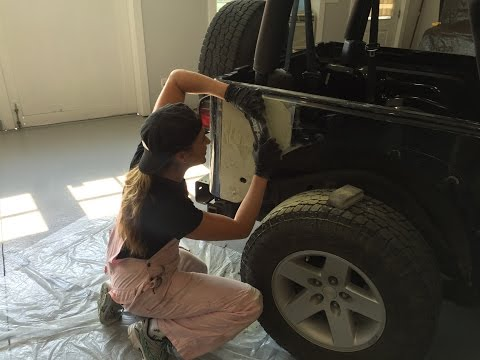 Days 2-6  - Body Work - Sugar High Jeep Wrangler Rubicon Build for SEMA and Rebelle Rally