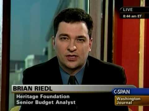 Brian Riedl debates economic stimulus on C-SPAN