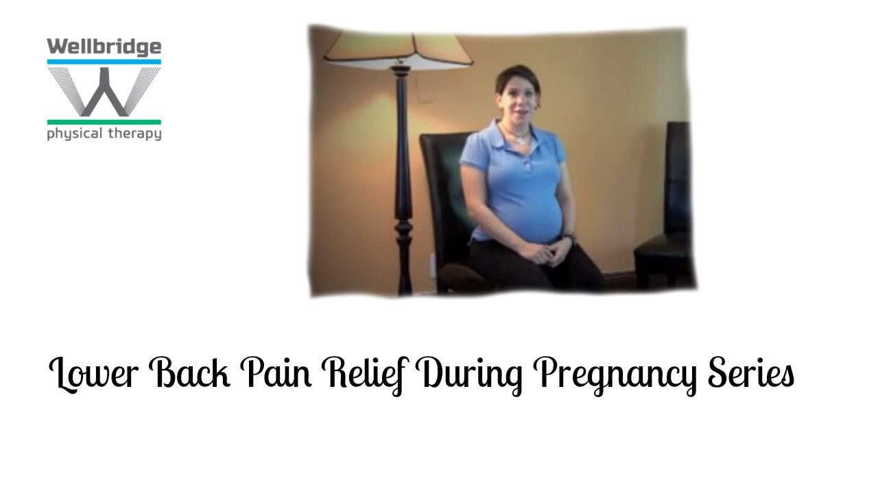 Lower Back pain relief during pregnancy