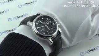 Обзор. Мужские наручные часы Montblanc MB106467 с хронографом
