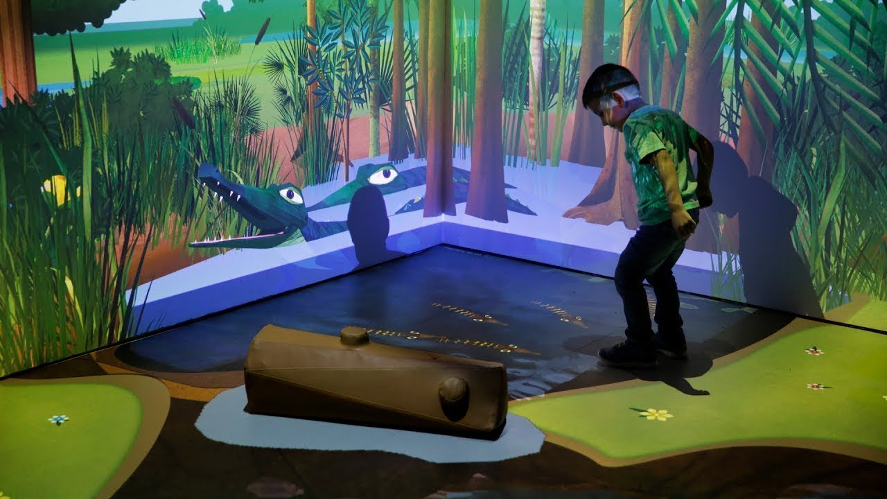 D Virtual Reality Exhibition : River of grass virtual reality interactive everglades