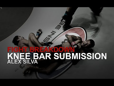 MMA FIGHT BREAKDOWN: BJJ World Champion Alex Silva Knee Bar Submission! | Evolve University