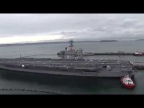 USS Nimitz (CVN 68) arrives at her new home port at Naval Station Everett
