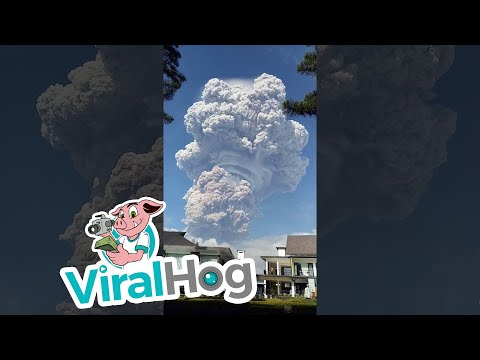 Mount Sinabung Eruption    ViralHog