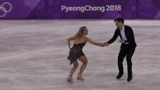 2018 Winter Olympics Figure skating ice dance Free (4K) : USA (HUBBELL Madison / DONOHUE Zachary)