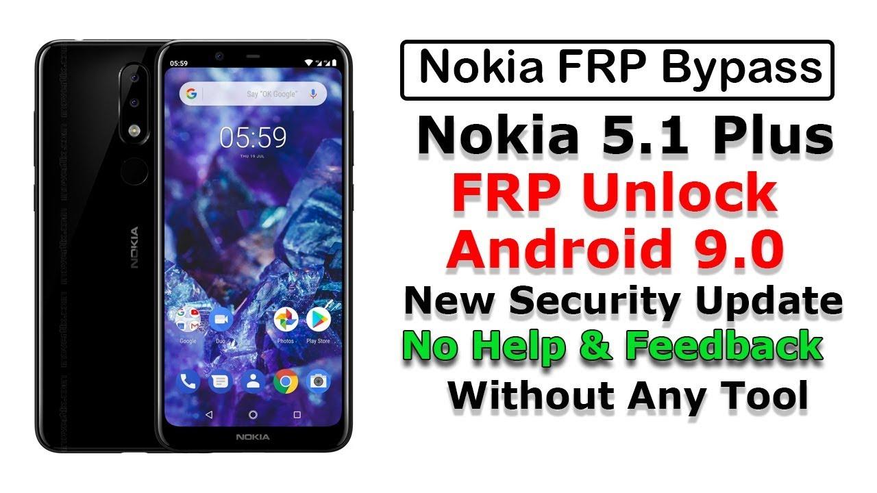nokia 5 1 plus frp unlock | ta-1102 frp bypass | Android 9 0 | New method  2019| Nokia frp unlock