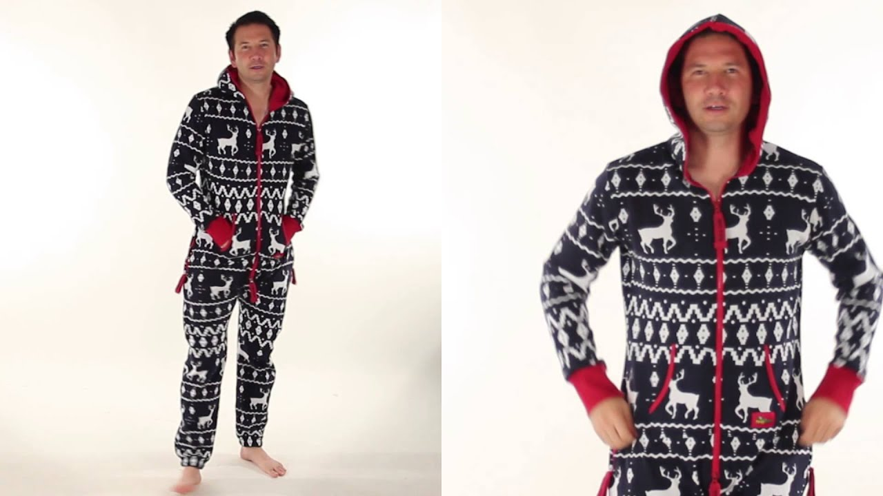Ugly Christmas Sweater Party - Navy Blue and Red Fair Isle Jumpsuit ...