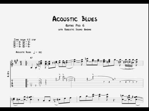 Acoustic Blues Guitar Tabs : intermediate acoustic blues guitar tabs tutorial youtube ~ Hamham.info Haus und Dekorationen
