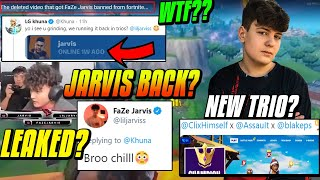 FaZe Jarvis LEAKED Playing Fortnite? Will he be BANNED? Clix NEW Trio Split! Yuldy & Psycho join KNG