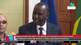 Multinoticias | Embajadores de Siria y Mauritania entregan copias de estilo