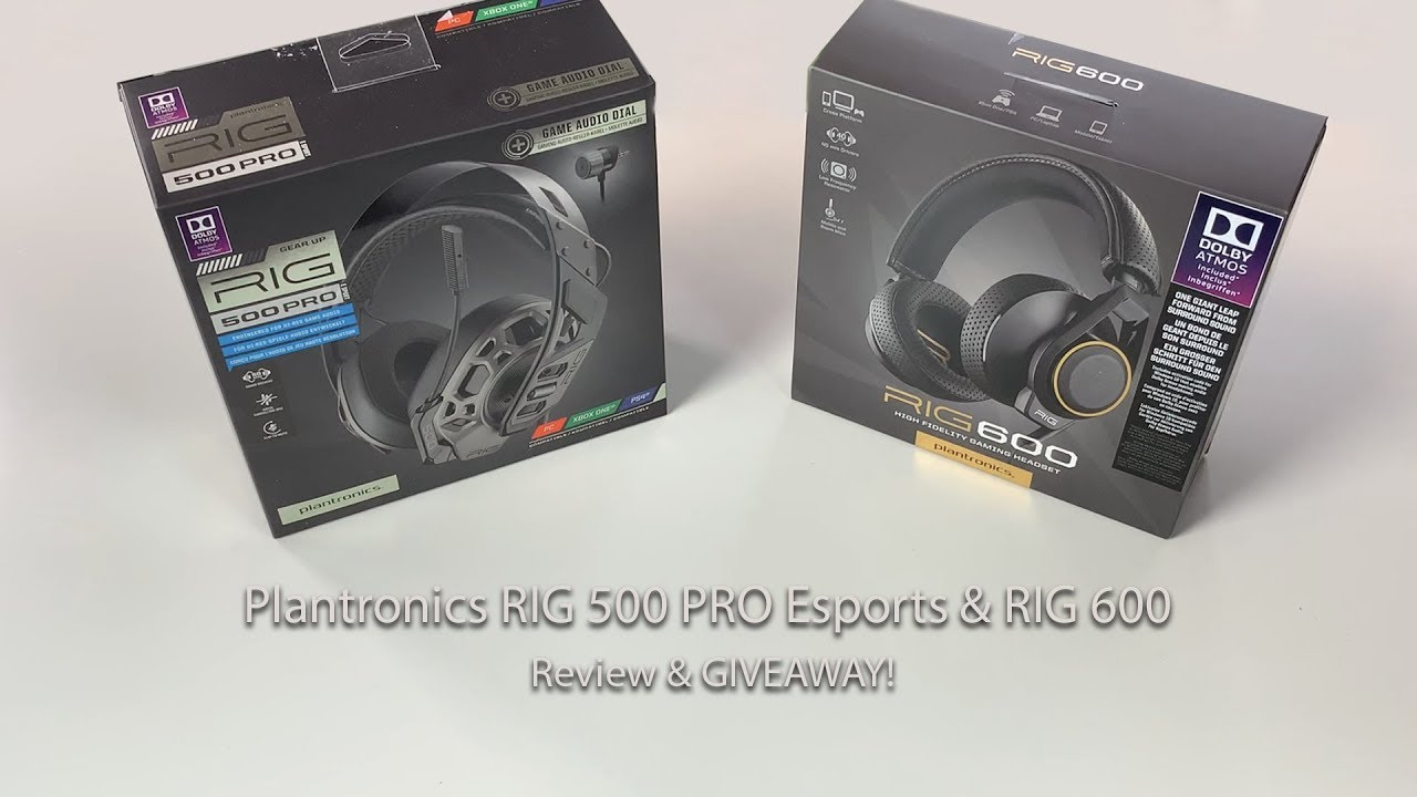 Plantronics RIG 500 PRO Esports & RIG 600 Review & Giveaway!